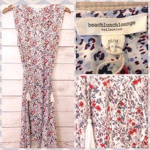 Beach Lunch Lounge Floral Print Dress NWT Medium